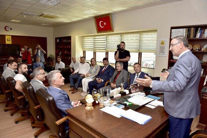 Büyükataman'dan Başkan Kurtulan'a Ziyaret
