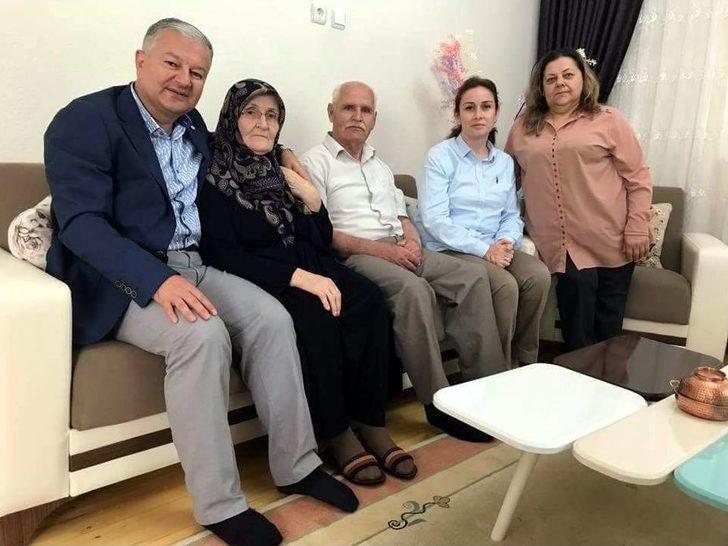 Kaymakam Duru'dan Şehit Ailelerine Bayram Ziyareti