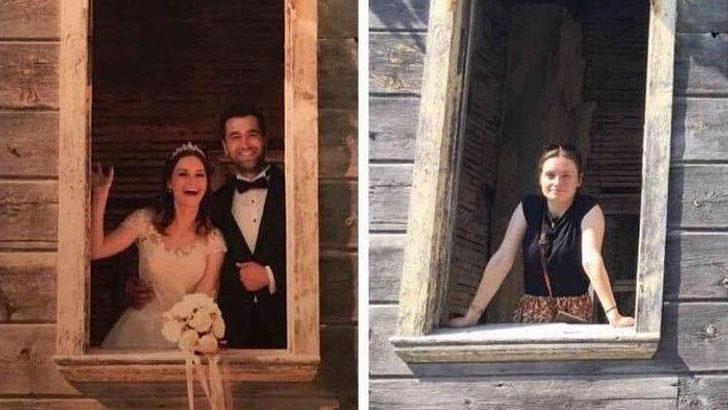 Afrin şehidi Fatih Mehmethan'ın eşi düğün fotoğraflarının aynısını bu kez tek başına çekti