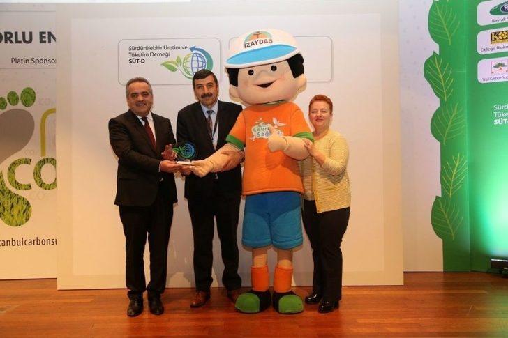 """İzaycan Projesine """"karbon Kahramanı"""" Ödülü"""