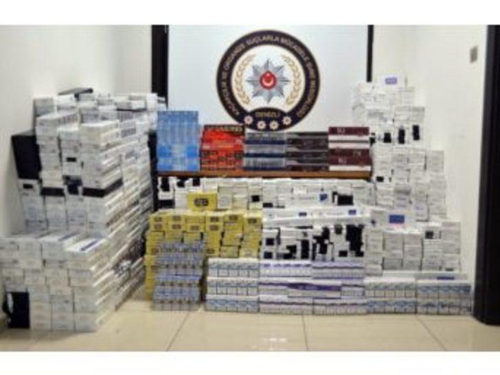 İplik Çuvallarının Arasında 16 Bin 90 Paket Kaçak Sigara Ele Geçirildi