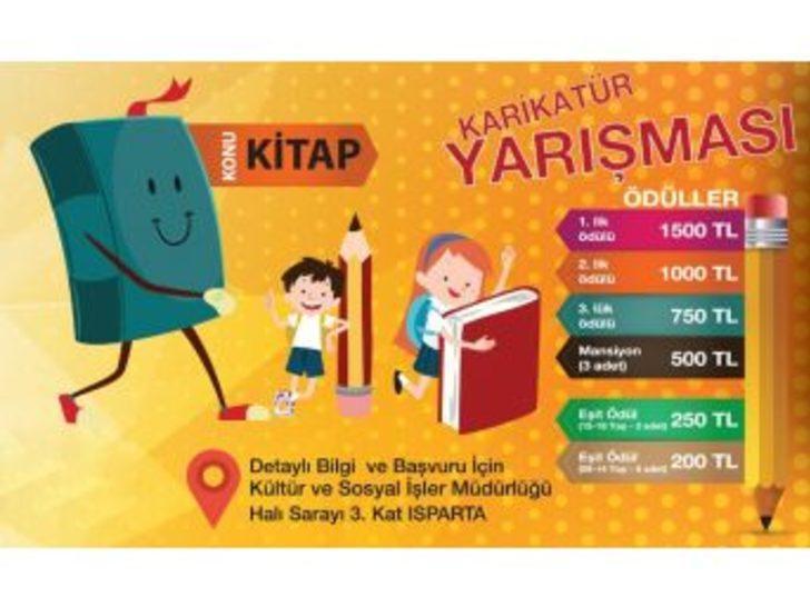 Isparta'da 'kitap' Konulu Karikatür Yarışması