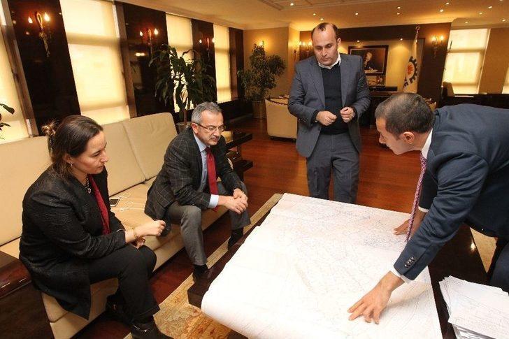 İsu Gebze Bölge Müdürü Kızılgöz, Başkan Köşker'e Çalışmalar Hakkında Bilgi Verdi
