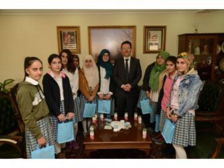 Öğrencilerden Vali Ünlü'ye Ziyaret