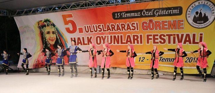 Kapadokya'da 5.uluslararası Halk Oyunları Festivali Başladı