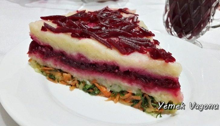 Kırmızı Pancarlı Patates Salatası