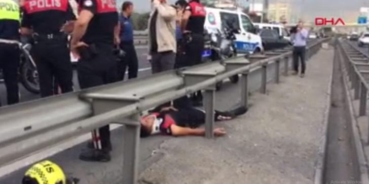 Çağlayan'da polis ekipleri kaza yaptı!