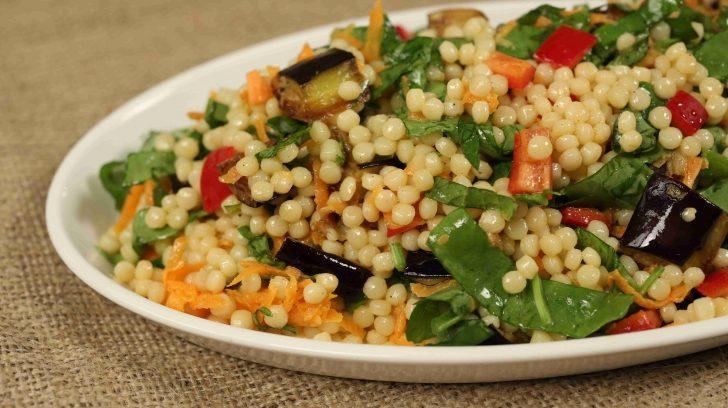Patlıcanlı Kuskus Salatası