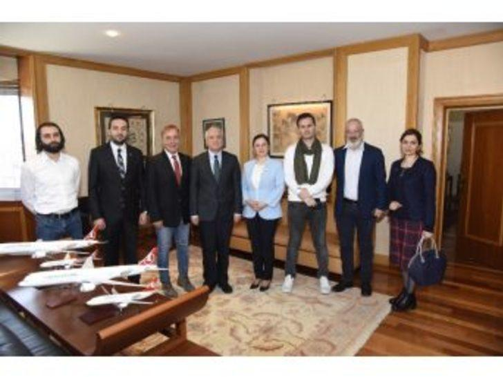 Sağlık Bakanlığı Müsteşar Yardımcısı Kazancı'dan, Rektör Gündoğan'a Teşekkür Ziyareti