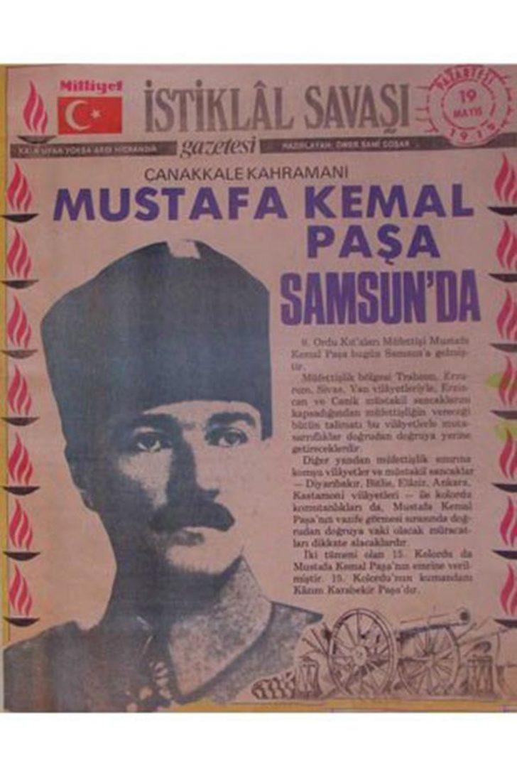 19 Mayıs 1919 günü millî bağımsızlığa, çağdaşlaşma ve demokratikleşmeye giden yolun ilk adımıdır