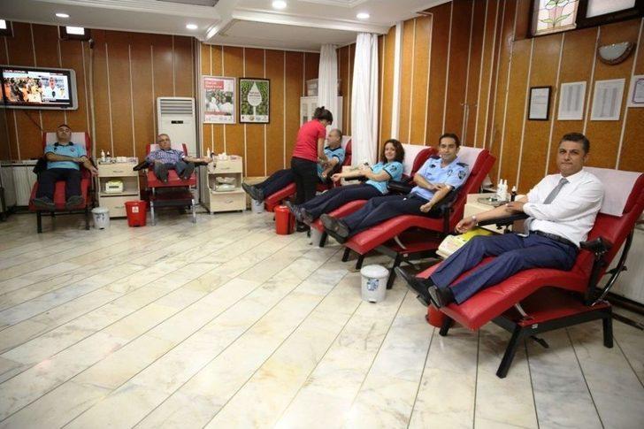 Zabıta Haftası'nda Kan Bağışında Bulundular