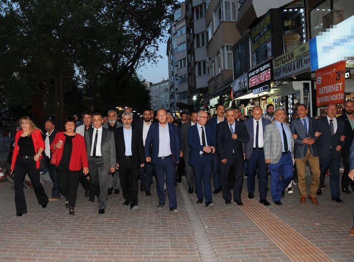 Eskişehir'de ülkücü gençlerin anısına 'Şehitlere Saygı Yürüyüşü'