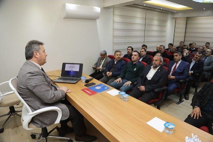Başkan Palancıoğlu Eğitim-bir Sen Üyeleriyle Buluştu