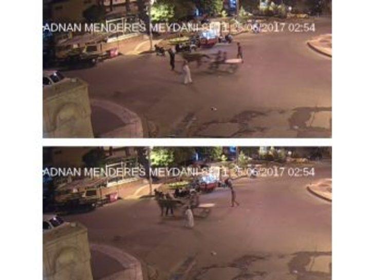 At Arabasının Yayaya Çarptığı Kaza Kamerada
