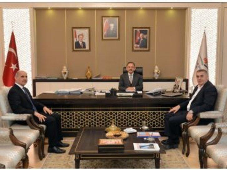 Başkan Toçoğlu Bakan Hasekiyi Ziyaret Etti
