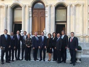 TÜSİAD heyeti Hazine ve Maliye Bakanı Berat Albayrak'ı ziyaret etti