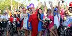 Antalya'nın 'süslü kadınları' bisiklet turunda