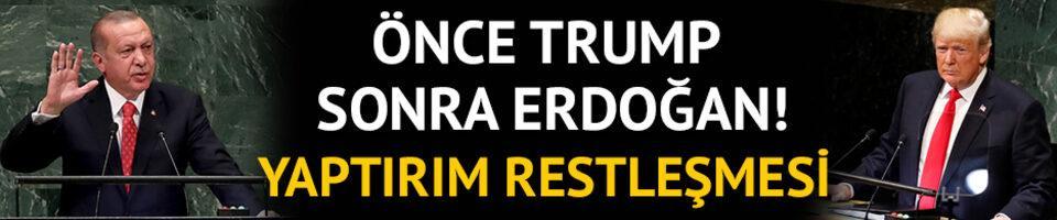 Yaptırım restleşmesi! Önce Trump, sonra Erdoğan