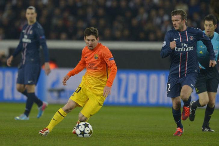 David Beckham: Messi benim yanımdan hızlıca geçip bana çalım attığında futbolu bırakmaya karar verdim.