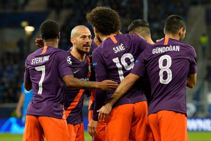F Grubu'nda ise Manchester City deplasmanda Hoffenheim'ı Aguero ve David Silva'nın golleriyle 2-1 yendi.