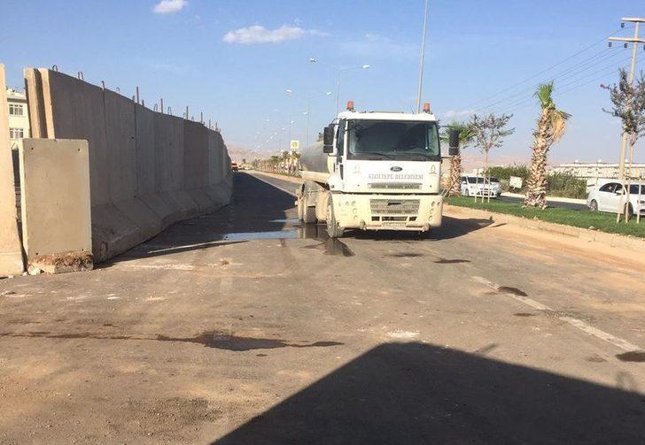 Kızıltepe'de güvenlik nedeniyle kapatılan yol trafiğe açıldı