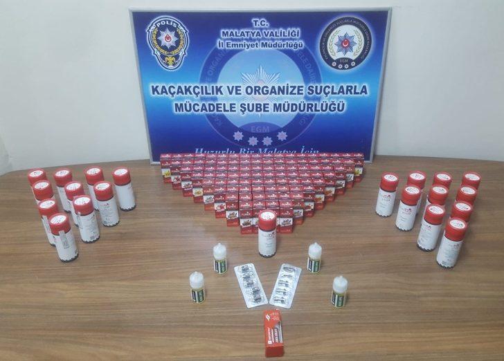 Malatya'da kaçak sigara ve içki operasyonu