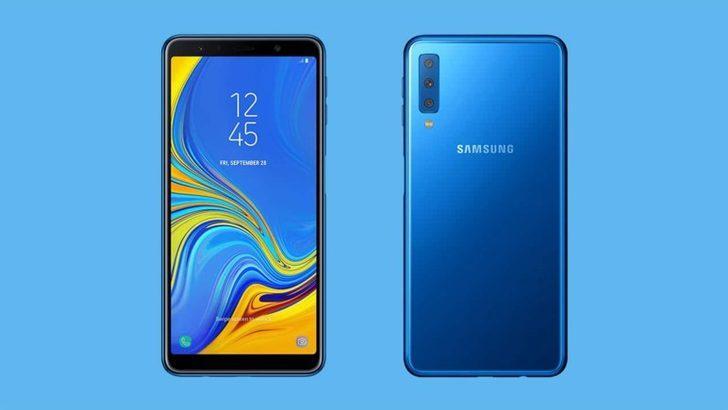 Üç arka kameralı Galaxy A7 (2018) geldi