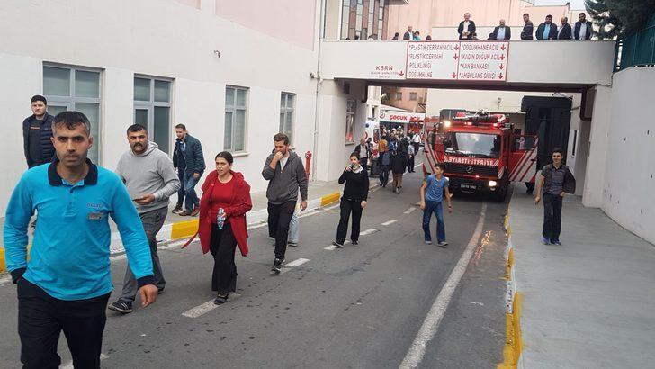 Bağcılar Eğitim ve Araştırma Hastanesi'nde yangın (1)