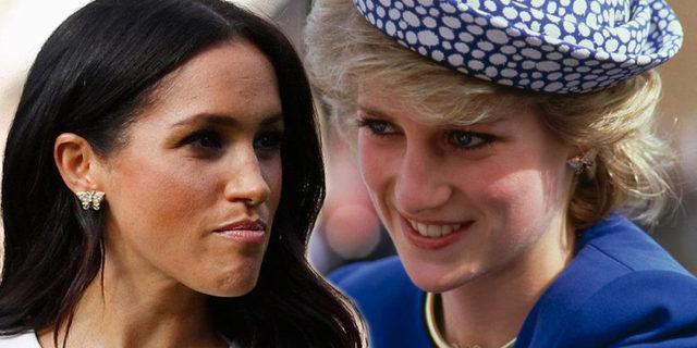 Lady Diana'nın küpeleri Meghan'ın kulağında