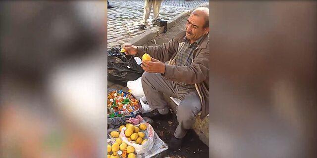Limon sıkacağı tanıtarak insanları hipnoz eden işportacı