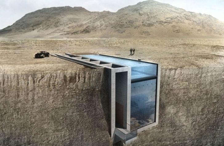 Bir Uçurum Kenarında Gizlenmiş Bu Ev Harika Deniz Manzarasına Sahip