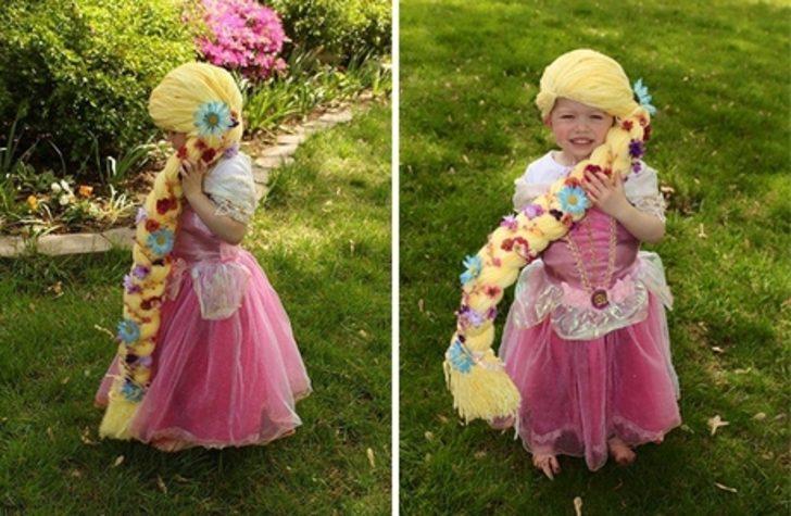 Kanser Hastası Küçük Meleklere Prenses Saçı Şeklinde Peruklar Tasarlayan Hemşire