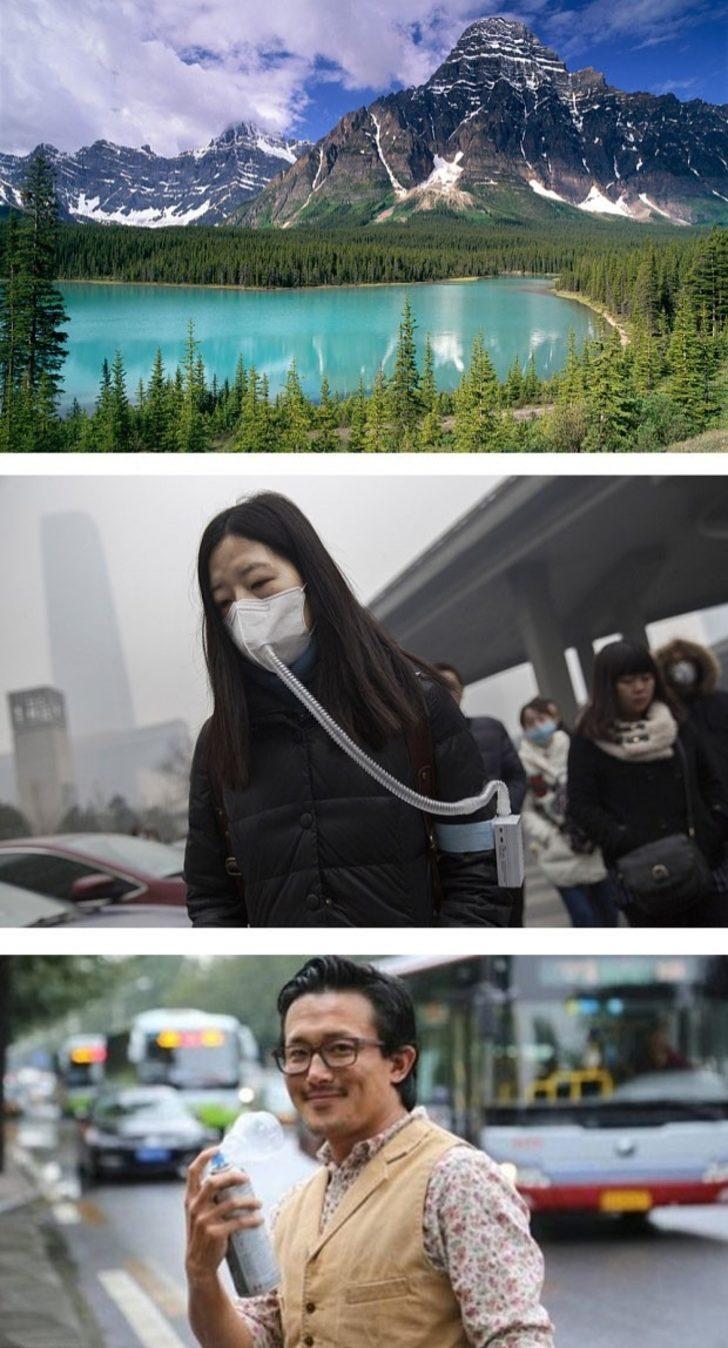 Çinliler, Kanada'dan Şişeler Dolusu Temiz Hava Satın Alıyorlar