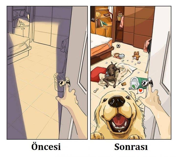 Köpek Sahibi Olmanın Zorluklarını Anlatan 9 Süper Ötesi İllüstrasyon