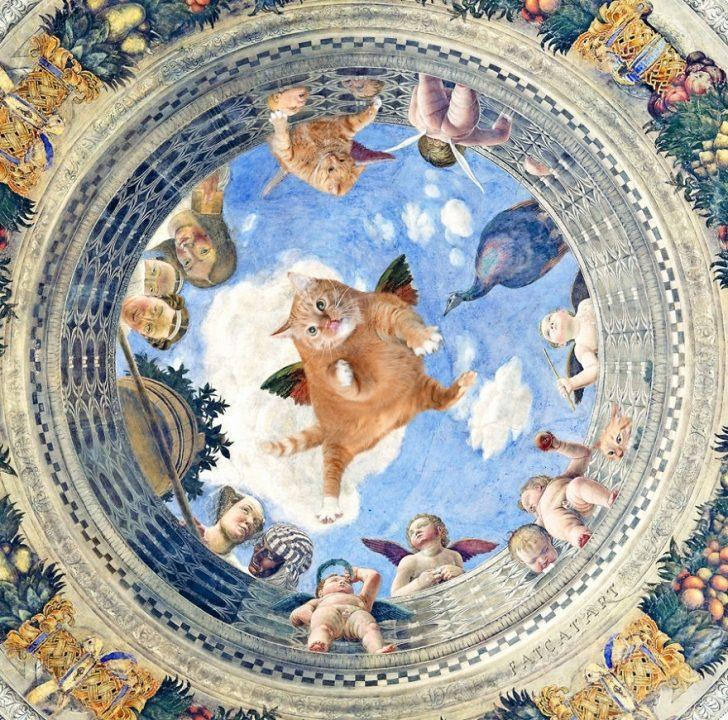 Kediler Aleminin En Sanatçı Ruhlusu ile Tanışın: Ünlü Tabloları İşgal Eden Şişman Kedi, Zarathustra!
