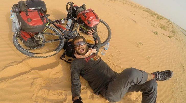 Sahra Çölü'nü 42 günde bisikletle geçen adam: Hasan Söylemez