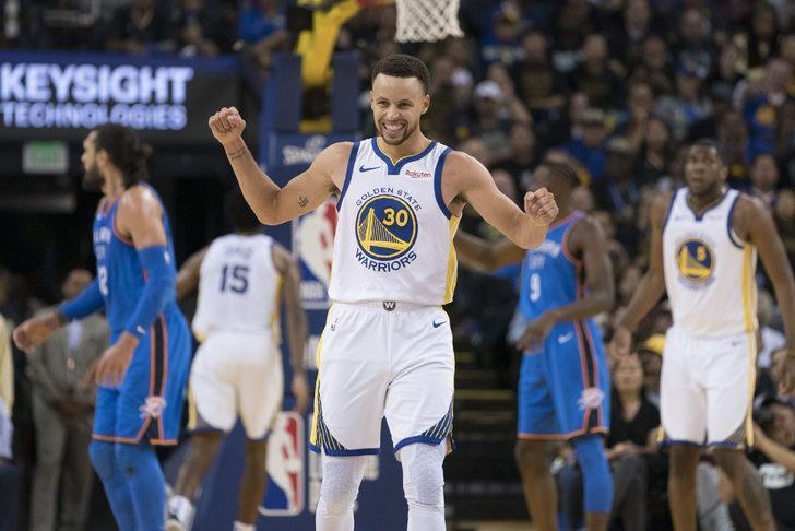 Golden State Warriors Oklahoma City'yi 108-100 yendi
