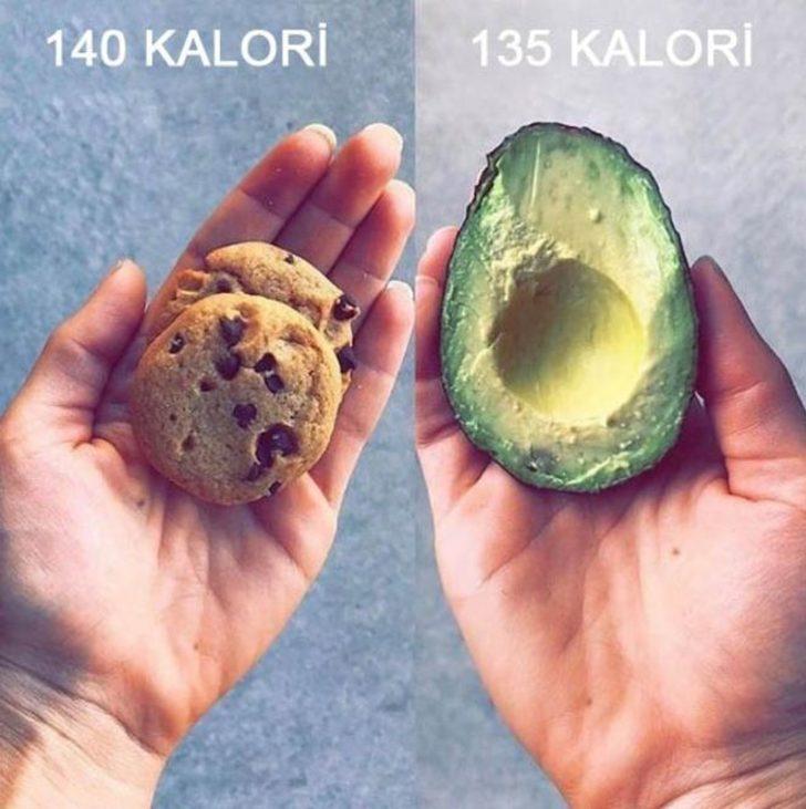 İşte aynı kaloriye sahip birbirine zıt yiyecekler!