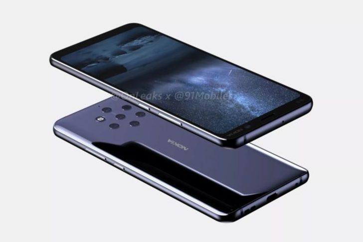 İşte 5 kameralı Nokia 9!