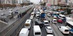 İstanbullulara sabah şoku!  E-5'te trafik kilit