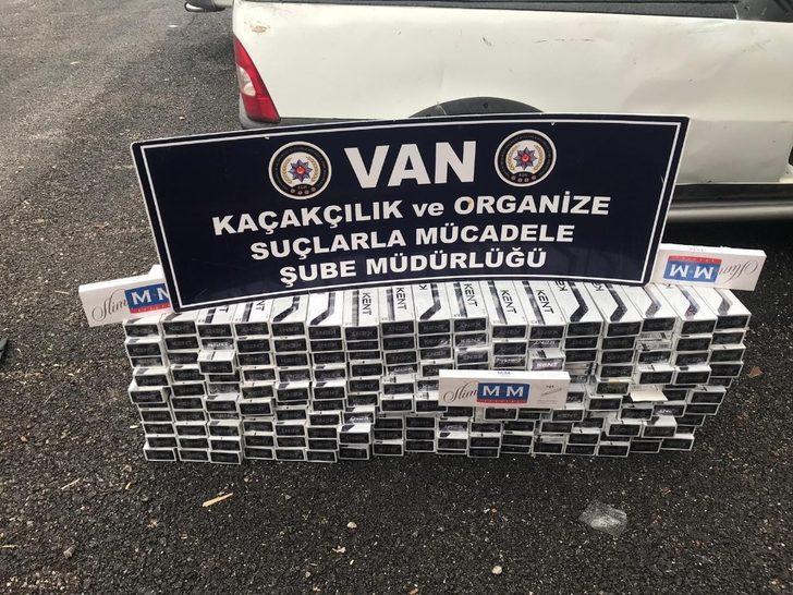 Kamyonetteki zuladan bin 750 paket kaçak sigara ele geçirildi