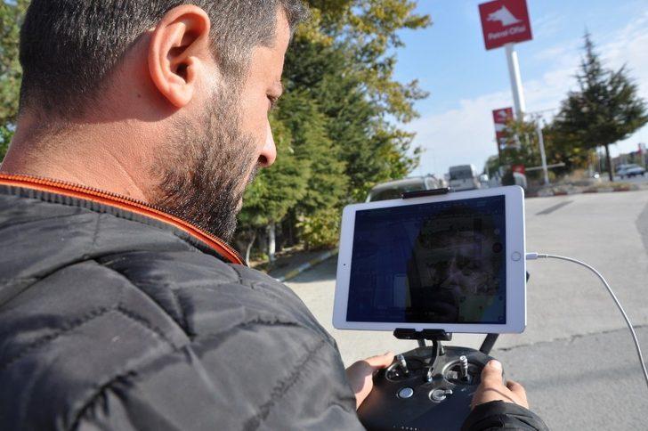 Sungurlu polisinden drone'lu trafik uygulaması