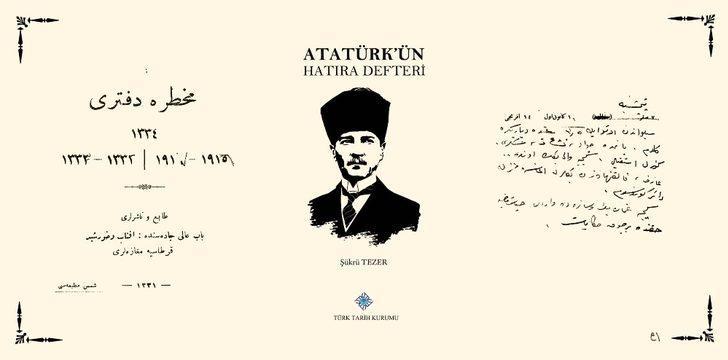 Atatürk'ün hatıra defteri 6. baskısıyla okuyucuyla buluşuyor