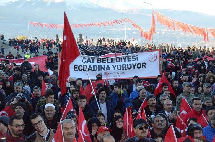 """Çat Belediyesi Başkanı Arif Hikmet Kılıç, """"Ecdadımız Aziziye Tabyasında bir destan yazmıştır"""""""