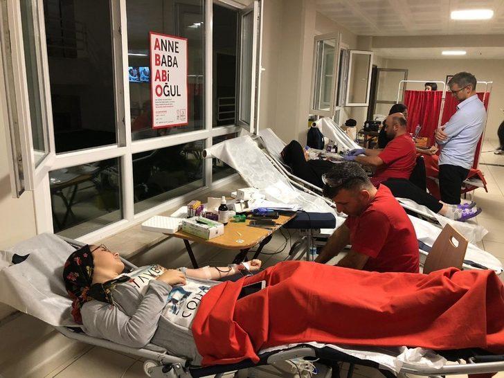 KYK öğrencileri Kan bağışında bulundu