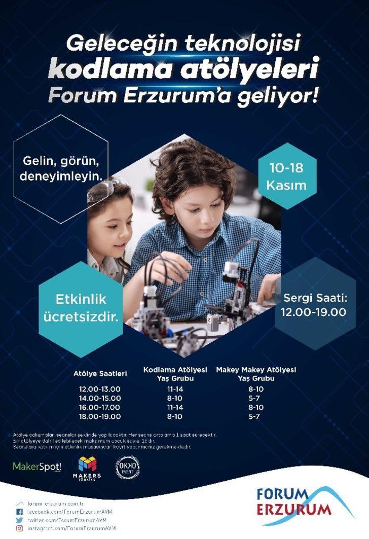 Forum Erzurum çocukları geleceğin teknolojisiyle buluşturuyor